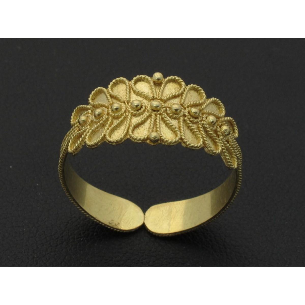 Fede sarda anello oro giallo o bianco 750 foglia