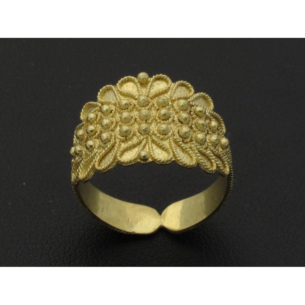 Anello fede sarda oro 750% 18 kt foglia 3