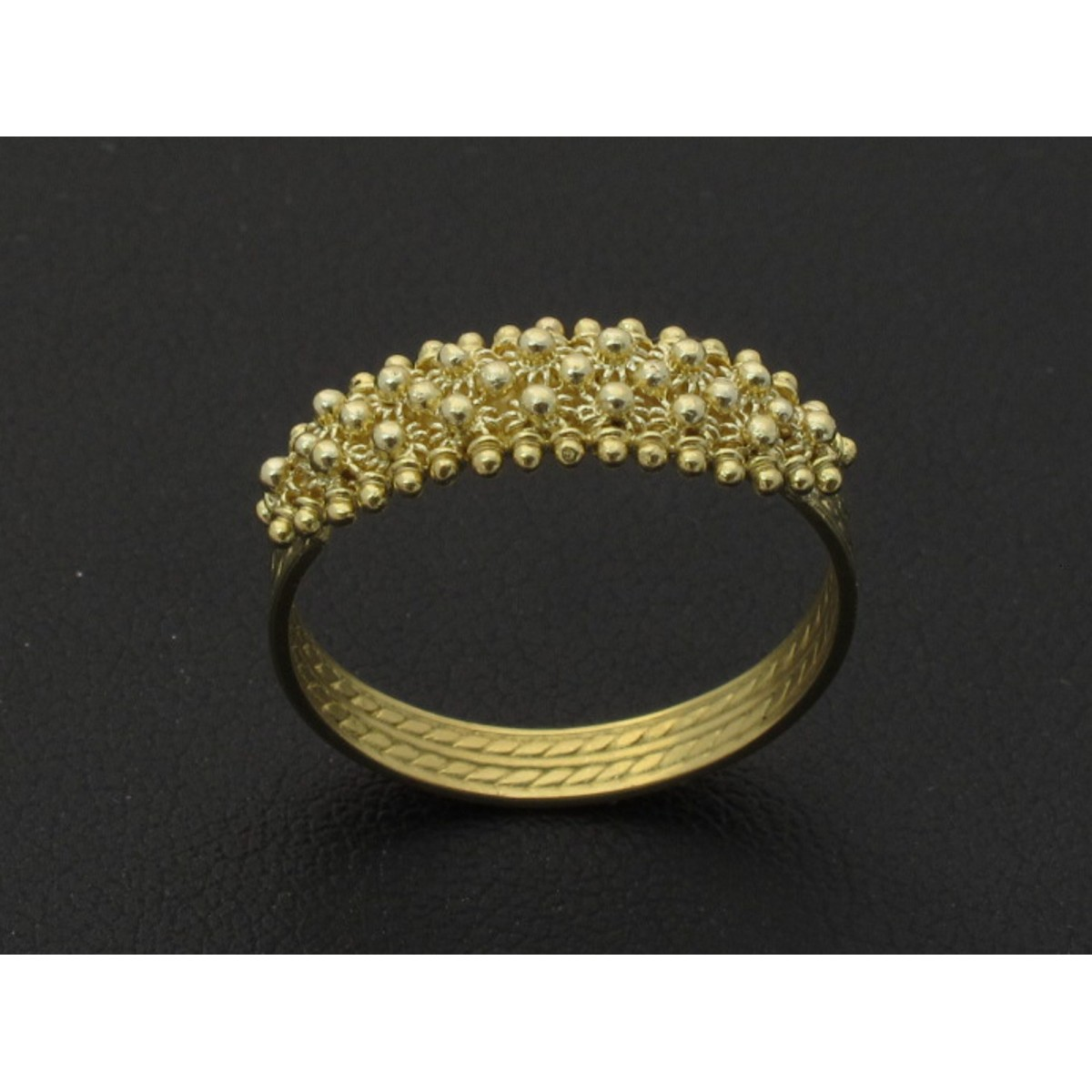 Gold filigree Fedina sarda ring