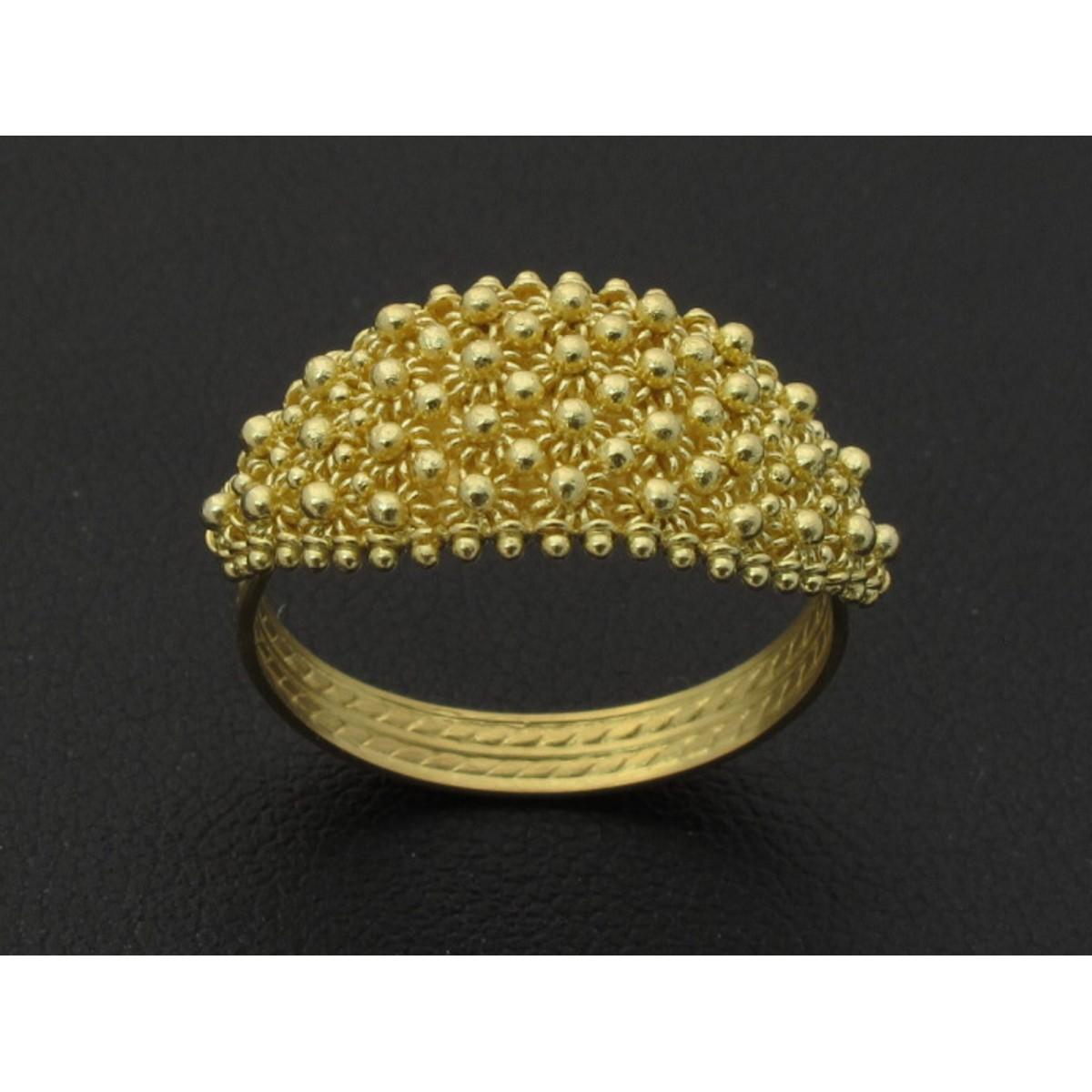 Anello fede sarda oro 750% lavorata a mano nido d'ape
