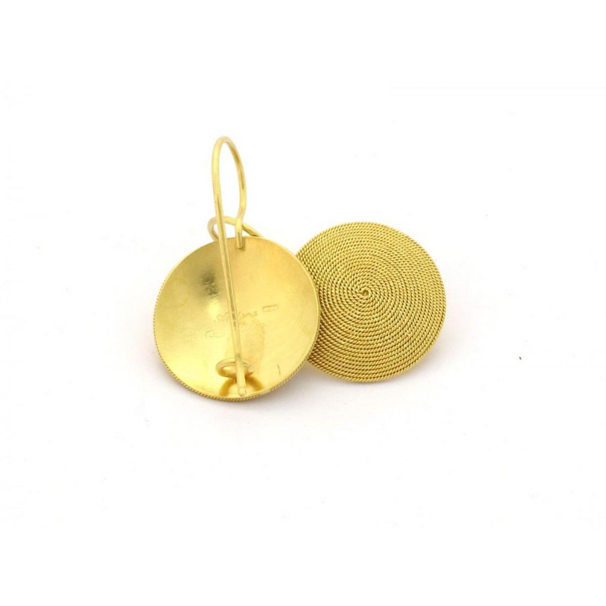 Orecchini Filigrana sarda Oro 750% giallo