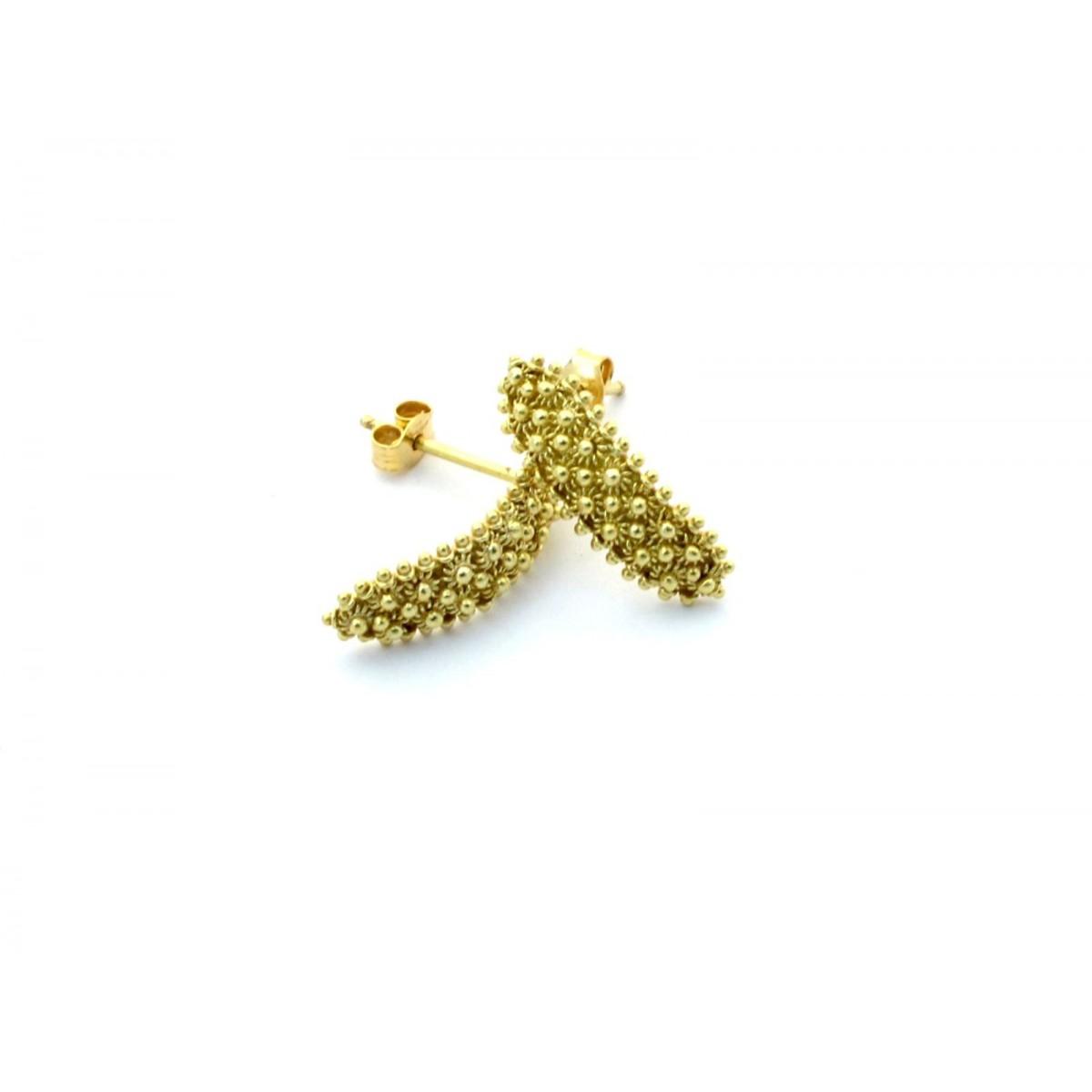 Orecchini pendenti filigrana a filo oro giallo