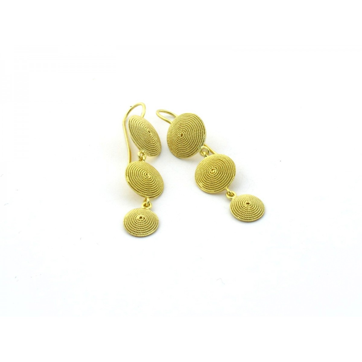 Orecchini monachella pendenti filigrana oro a mano