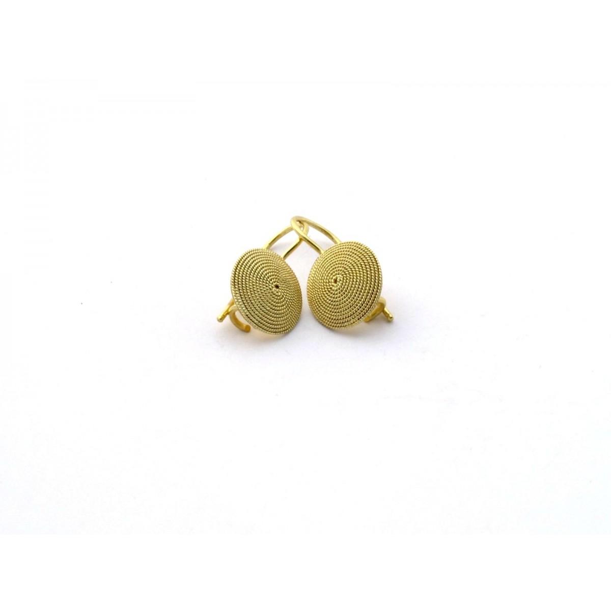 Orecchini monachella filigrana oro 18 kt