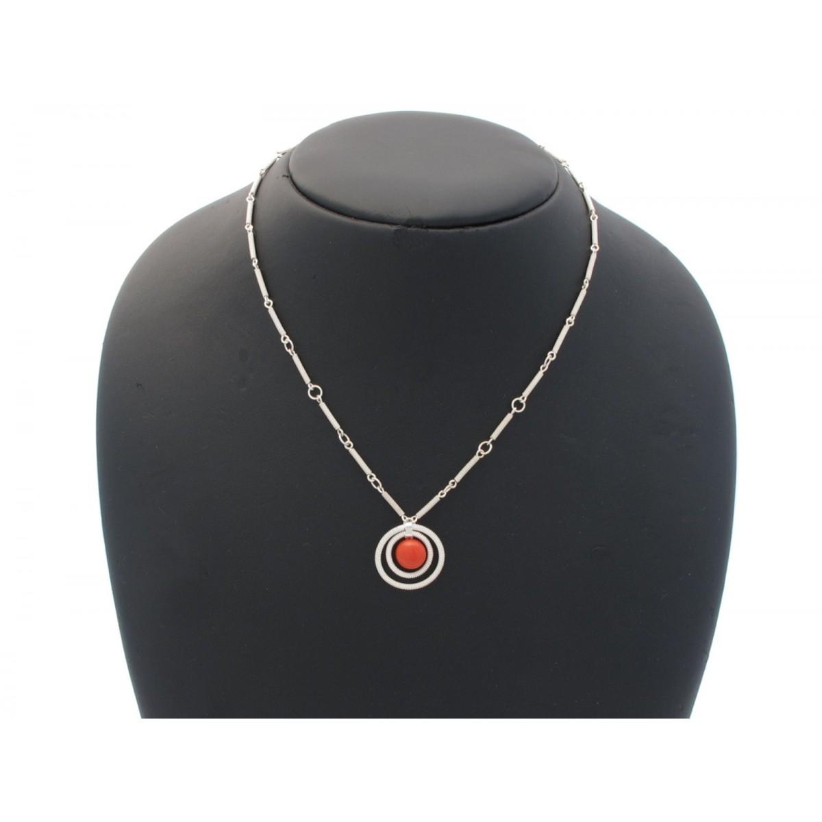 Collana filigrana argento corallo rosso Clc1