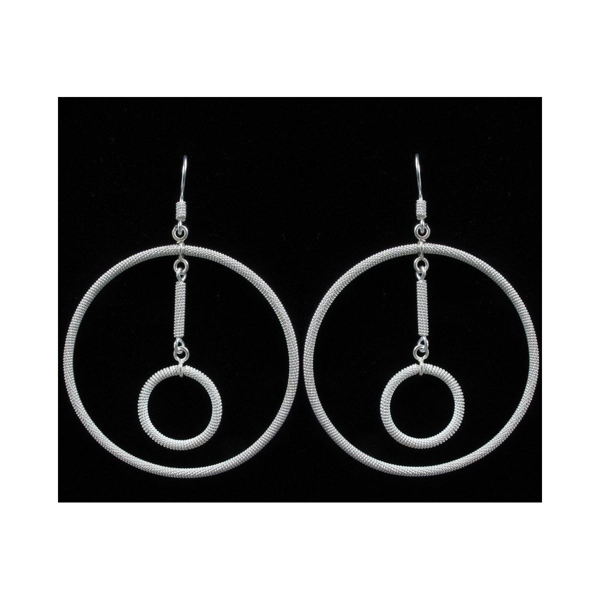 Orecchini argento filigrana a cerchio