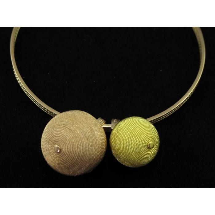 Bracciale filigrana sarda argento cerchio dorato e rosato