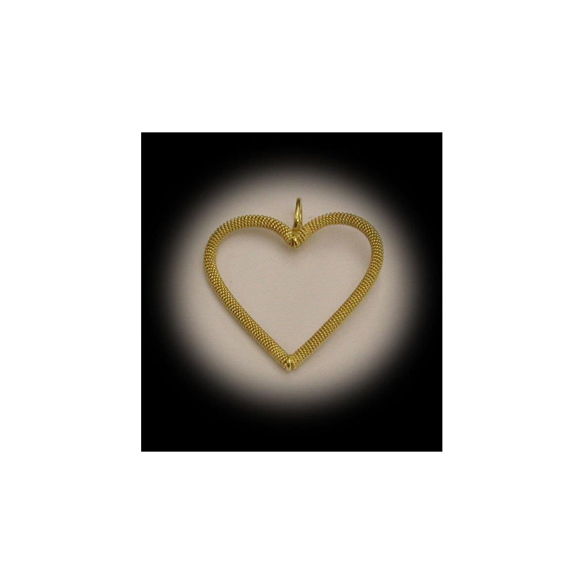 Ciondolo cuore filigrana oro